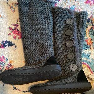 Gray mukluk boots